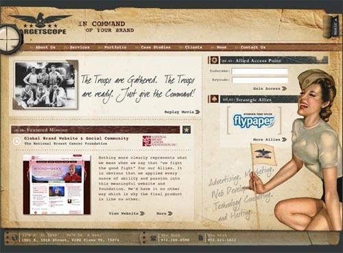 27个复古风格的网页设计作品欣赏