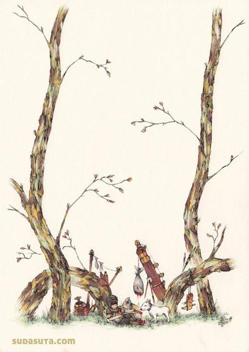 Acorn 中国风插画作品欣赏
