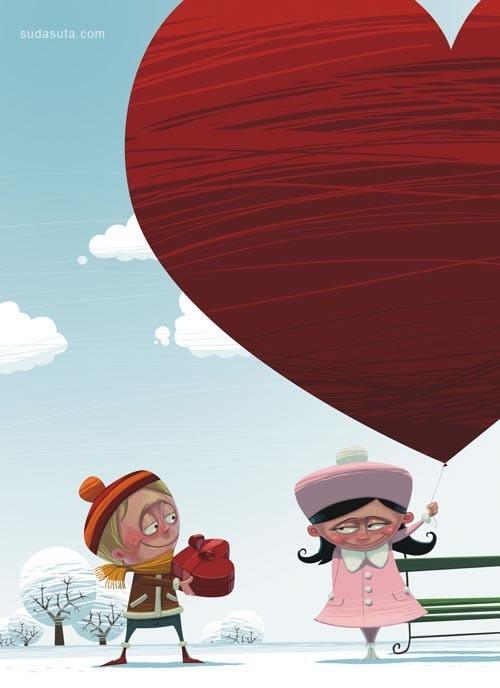 来自Denis Zilber的儿童插画欣赏