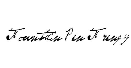 手写英文字体免费下载
