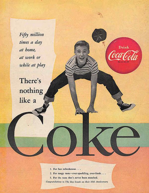 可口可乐百年广告海报