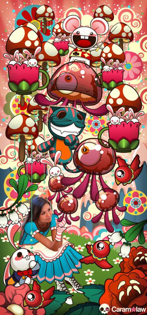 Caramelaw 可爱矢量插画欣赏