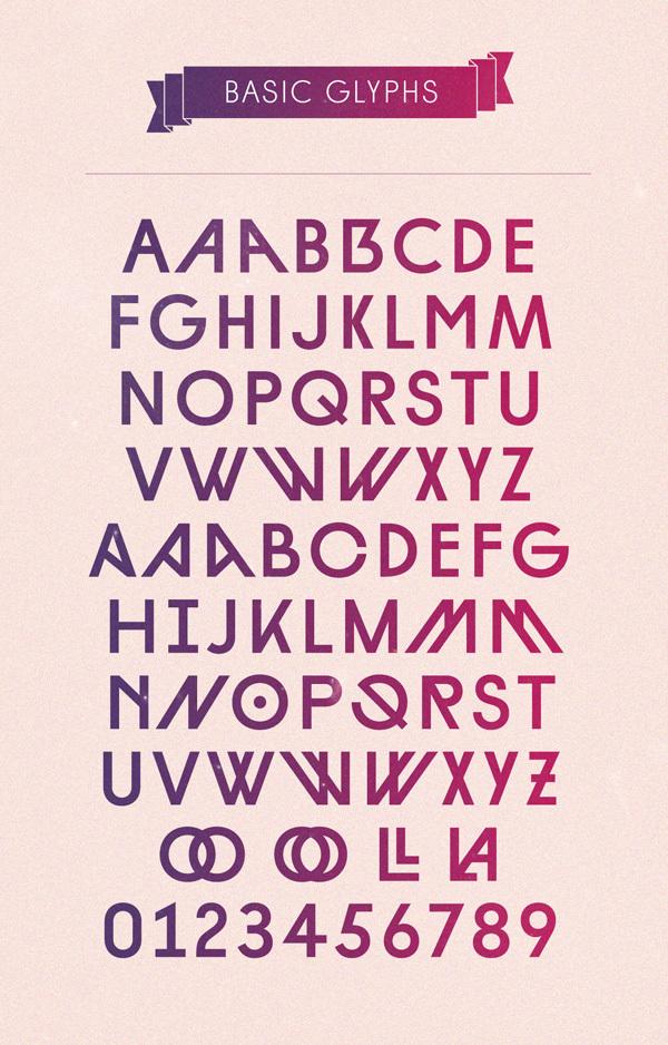 Hannes von Döhren 钻石英文字体设计