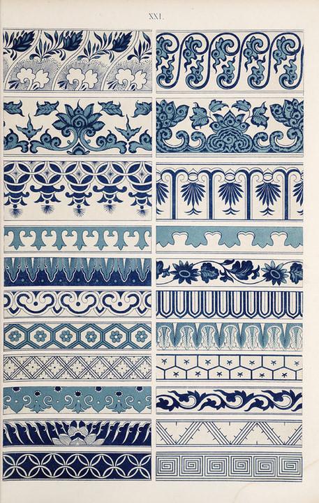 图片素材 古典中国风青花纹样