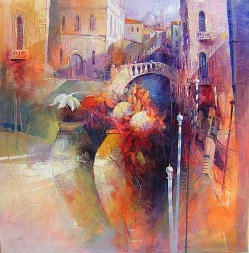 Claudio Perina 城市与花瓶 艺术插画 艺术 灵感 水彩 插画 城市