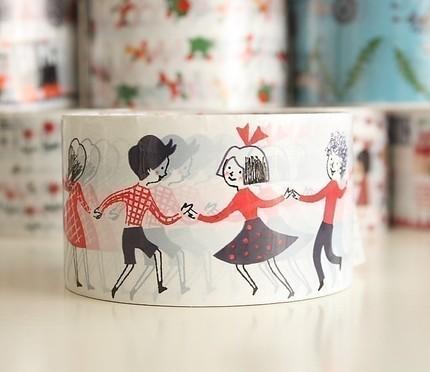 来自日本的可爱的胶带设计