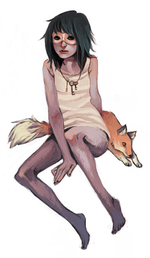 Sam Moss 女生和狐狸