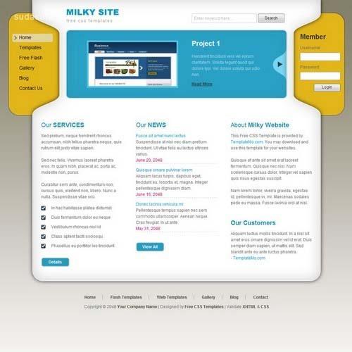 36个免费的CSS网页模版下载