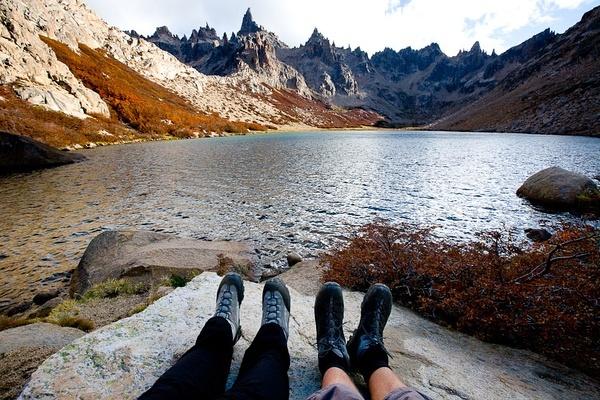 Lago Guiterrez (1700m), 纳韦尔瓦皮国家公园。阿根廷。