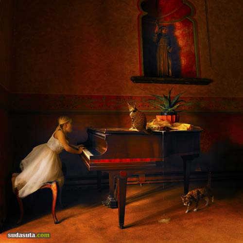Tom Chamber 超现实主义照片合成作品