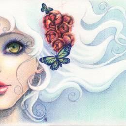 Victoria Rivero 蝴蝶与少女