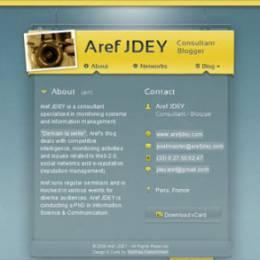 30个令人印象深刻的电子名片网站设计