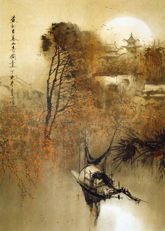 苏州古寒山寺图