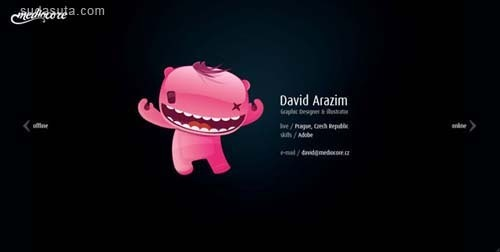 30个富有创意的带有插画元素的网页设计欣赏