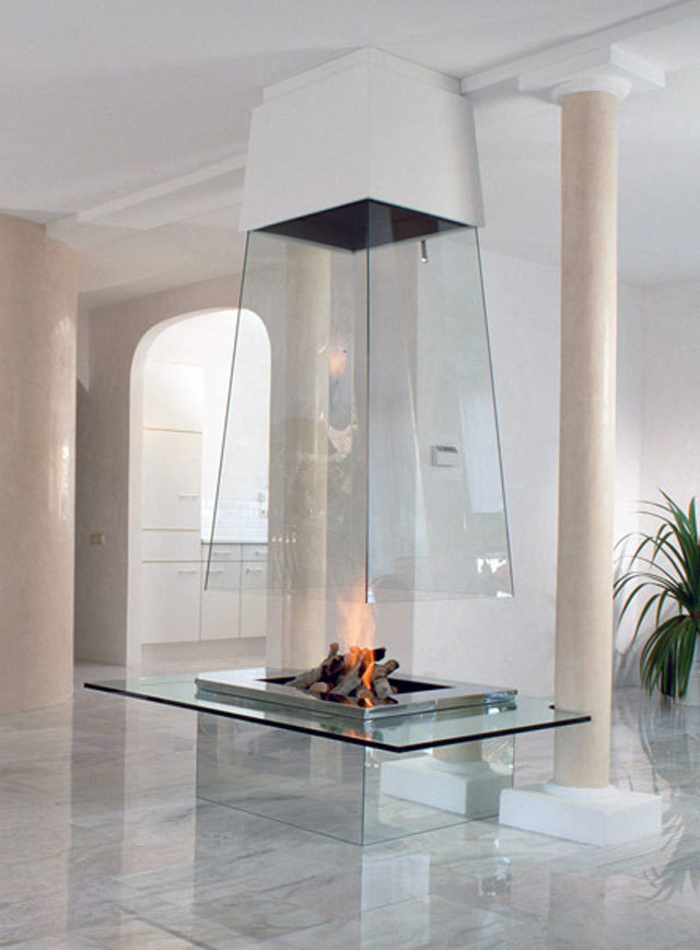 Glass Fireplace by Bloch Design