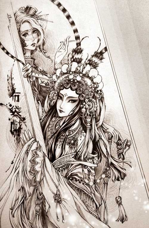 越南插画家Meri古典插画作品欣赏
