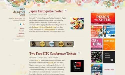 6个精美设计的个人blog欣赏