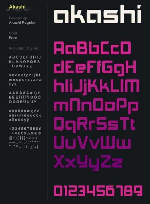 50个免费创意英文字体下载