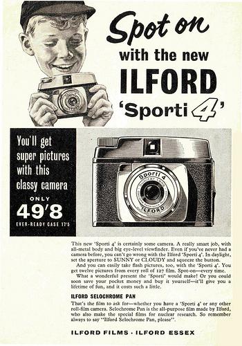 50个复古风格的照相机广告