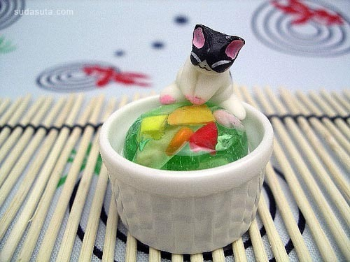 秀色可餐之手工可爱猫咪点心