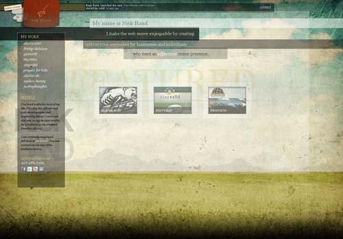 33个非常不错的创意网站设计欣赏