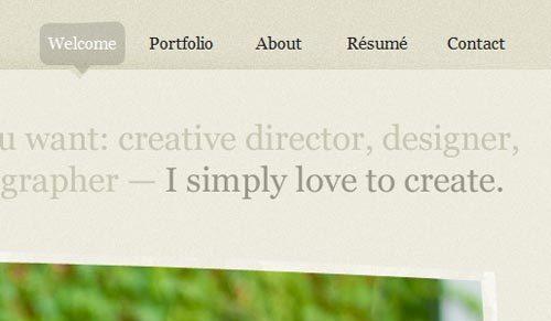 40个设计精美的网页导航截图