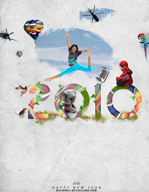25张非常漂亮的2010年主题插画壁纸