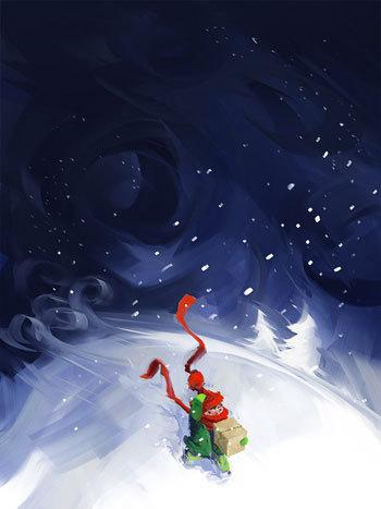 48个非常漂亮的圣诞卡片下载