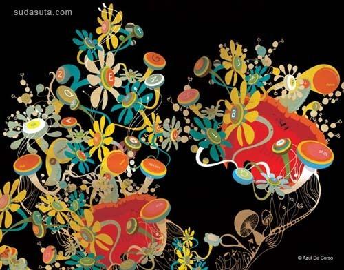 来自Azul De Corso的艺术作品欣赏