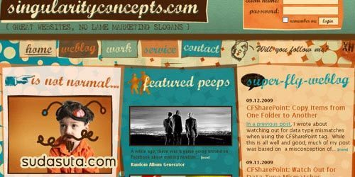 45个令人印象深刻的复古风格的网站设计