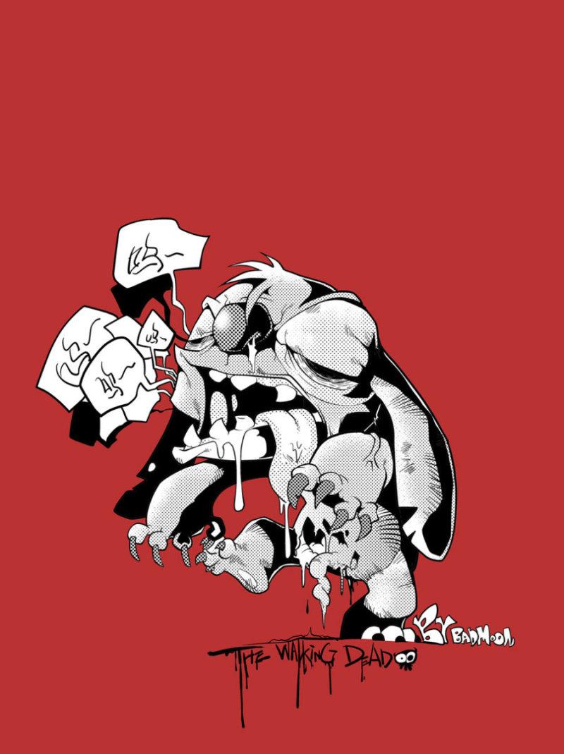 插画作品欣赏《躁动的斯蒂其》