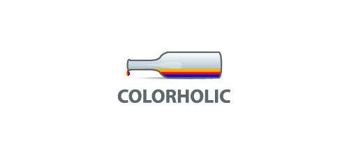 带有瓶子标识的创意LOGO分享