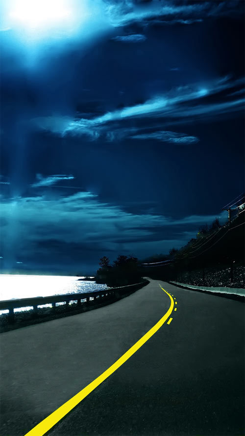 http://www.ilikewallpaper.net/iphone-5-wallpaper/Highway-Nights/4840
