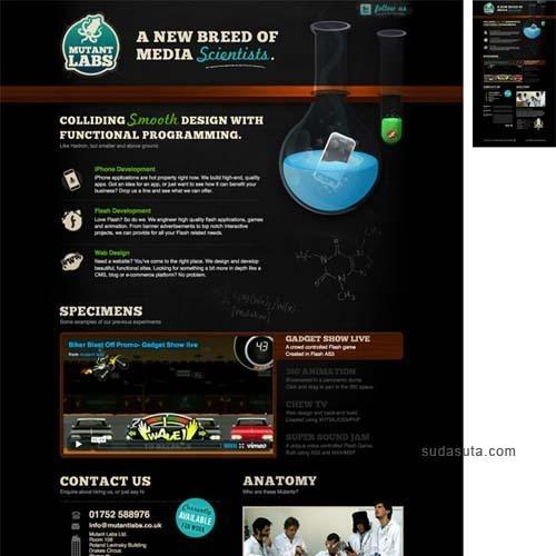单页面作品集设计