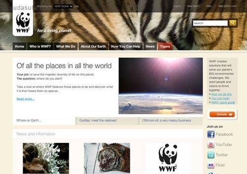 25个以自然为主题的网页设计欣赏