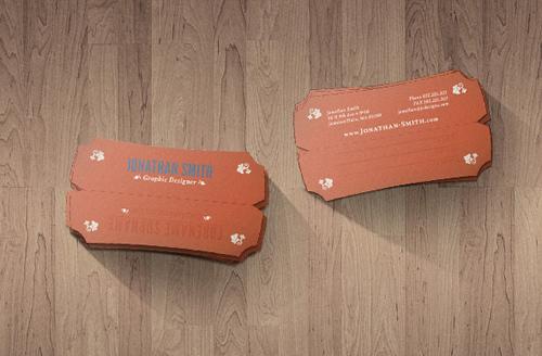 Retro 'n Die-Cut Business Card Design