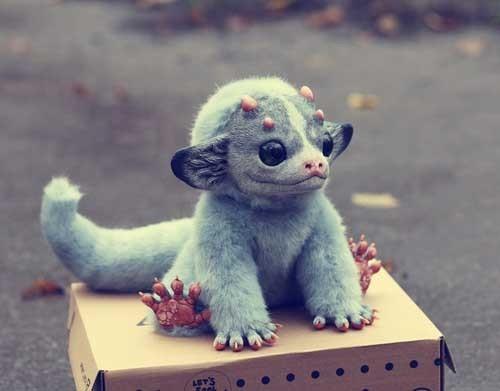 Santani 手工怪物小玩具