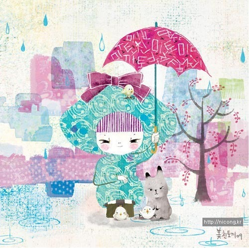 韩国插画家 Kim Yong Hee