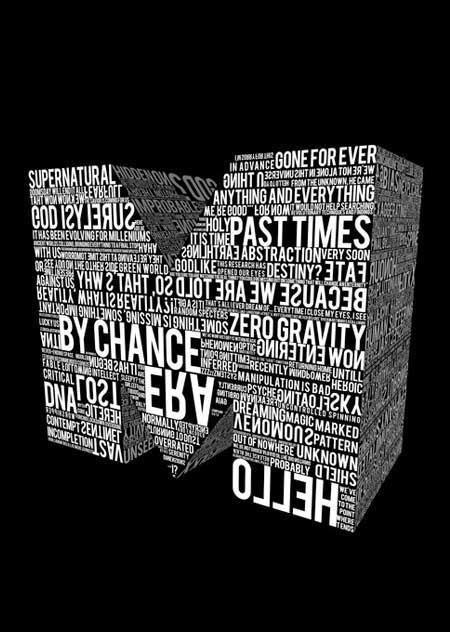 15个以文字为元素的数字艺术设计欣赏