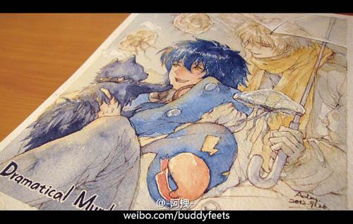 阿拽姑娘 手绘插画欣赏