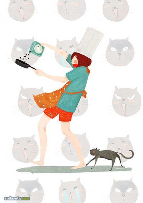 卤猫 画画是件正经事儿。
