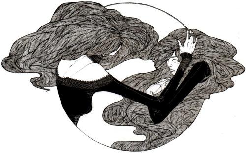Mia Calderone 纠结的长发