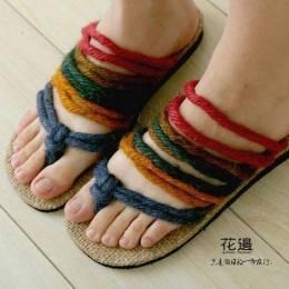 尼泊尔手工彩色拖鞋