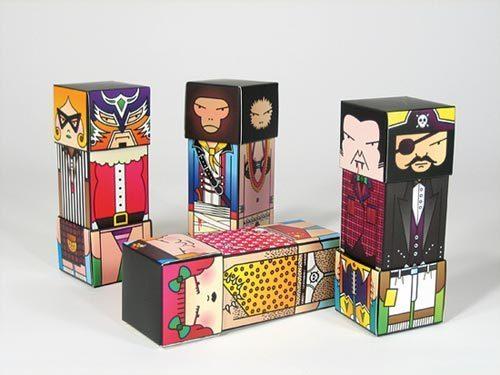 以盒子为原型的超级艺术形象