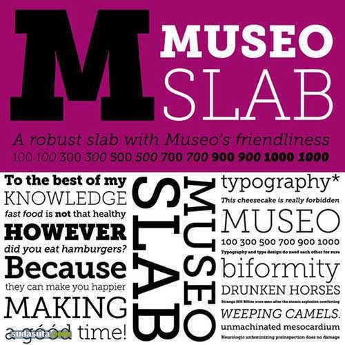 6款免费的Slab Serif字体下载