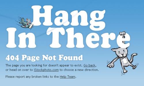 极其富有创意的附带卡通形象的404错误页面设计