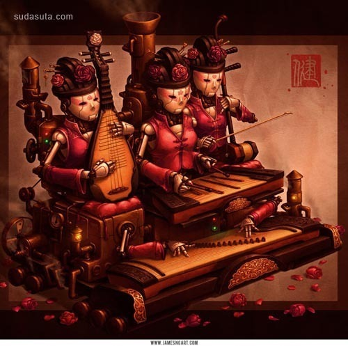 James Ng 中国风概念插画欣赏