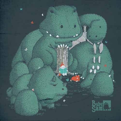 Sam Cheok(BubuSam)手绘T恤图案设计