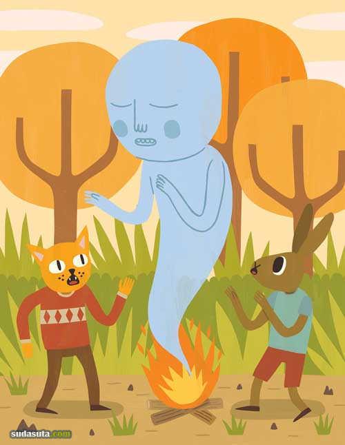 Jack Teagle 诙谐可爱的插画作品欣赏