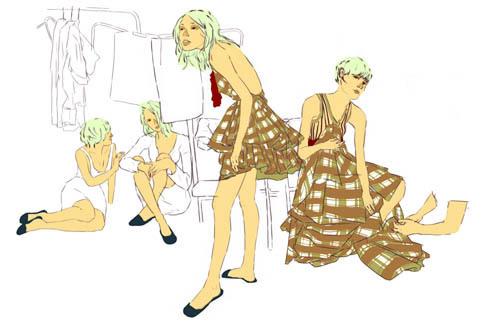 来自Dave Collinso的时尚插画作品欣赏